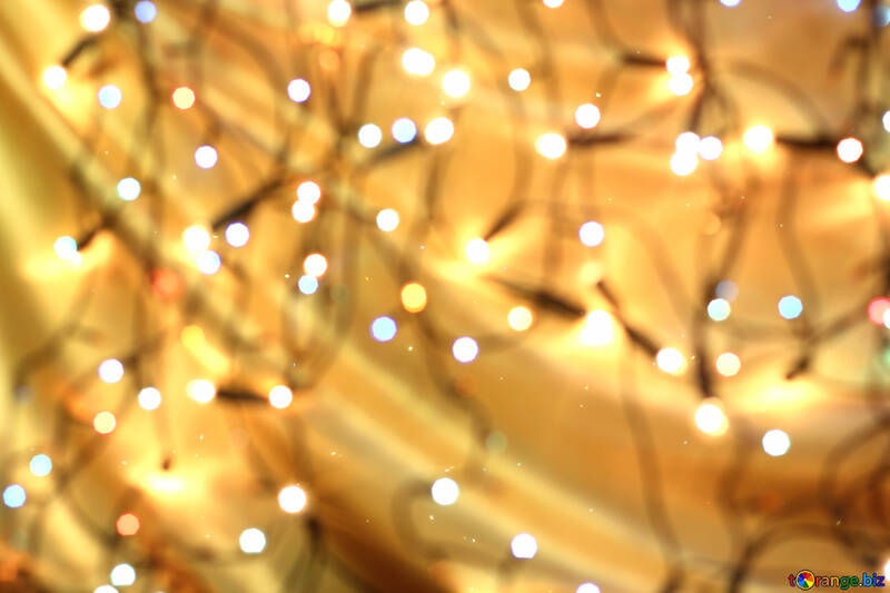 Background of Christmas lights №24614