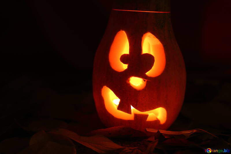 Halloween background image on greeting №24239