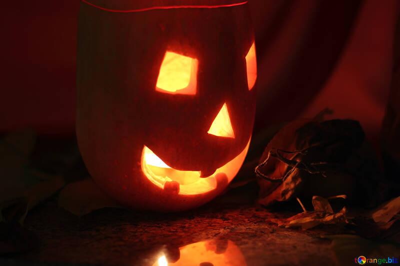 Lámpara de calabaza de Halloween №24299