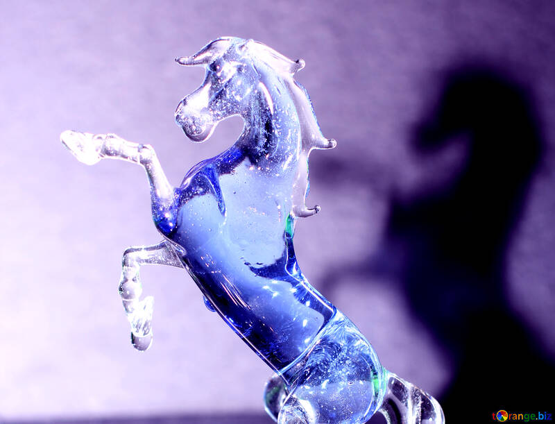 Cheval bleu №24530