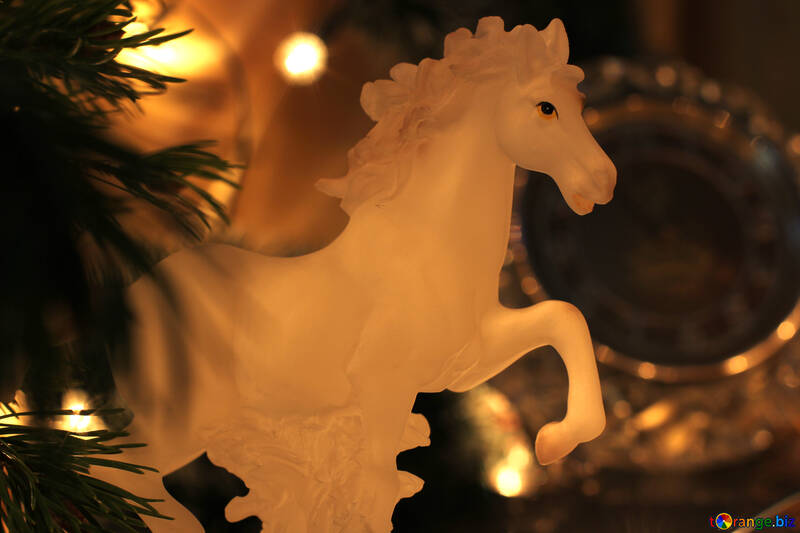 Horse on New Year`s table №24552