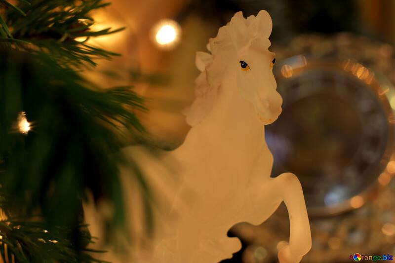 Cheval à l`occasion du nouvel an №24553