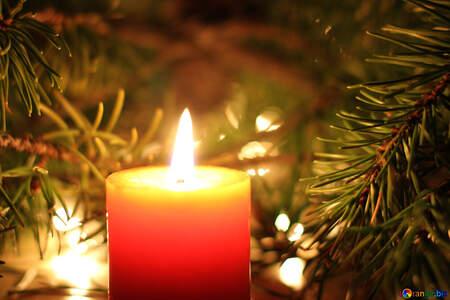 Christmas candle №24634