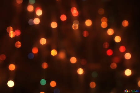 Background of Christmas lights №24607