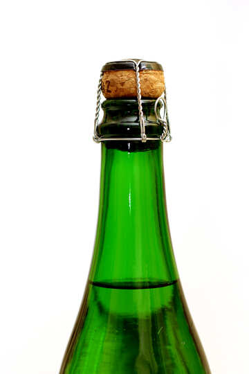 Bottle of champagne on white background №25786