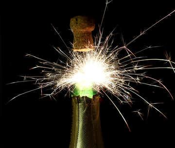 Champagne Fireworks №25612