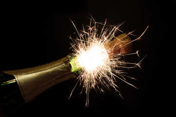 New Year`s fireworks with champagne №25619