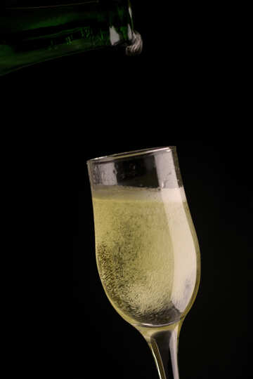 Foam in glass of champagne №25748