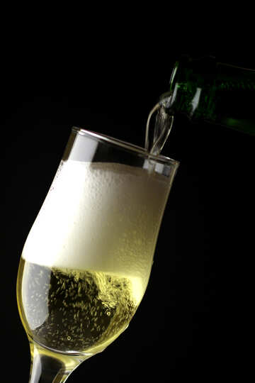 Champagne in glass №25769
