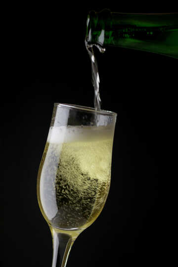 Champagne is poured into glass №25747