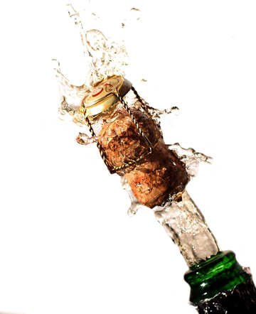 Champagne cork flying out of the bottle №25082