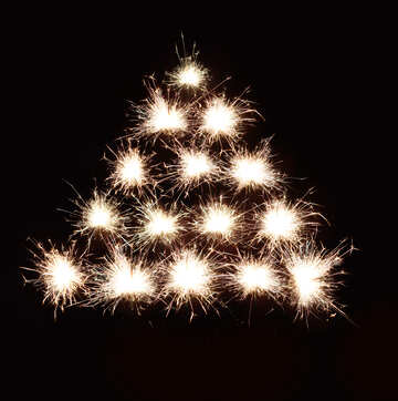 Christmas tree background of fireworks №25593