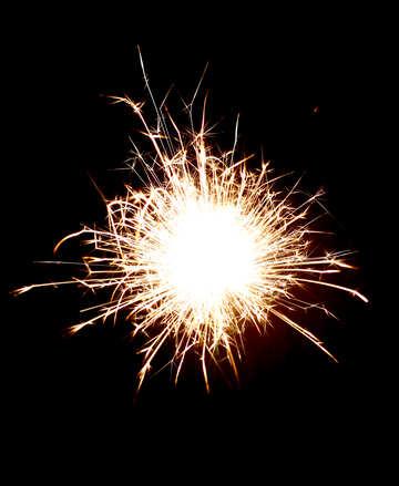 Sparkling fire №25723