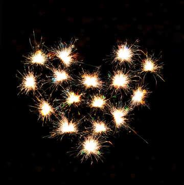 Sparkling heart №25597