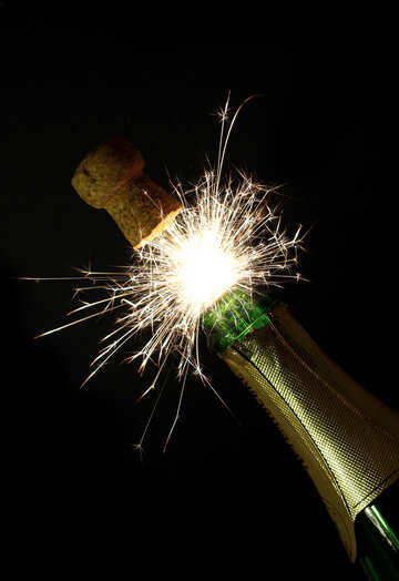 Sparks of champagne №25600