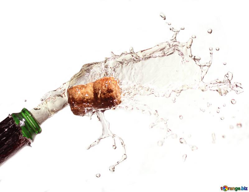 Flasche Champagner №25075