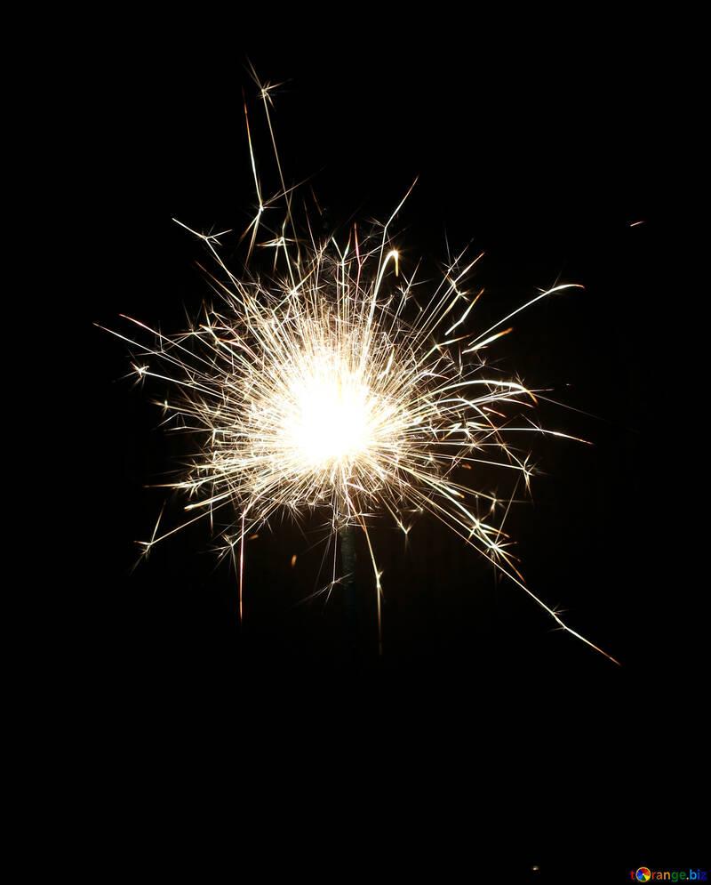 Sparkler on black background №25700