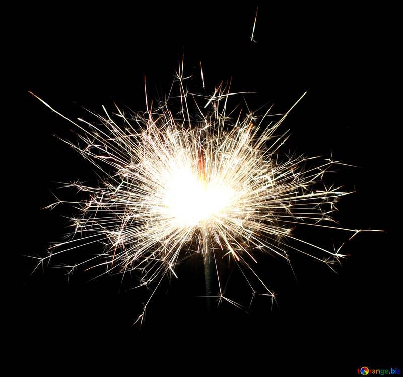 Sparks on black background №25699