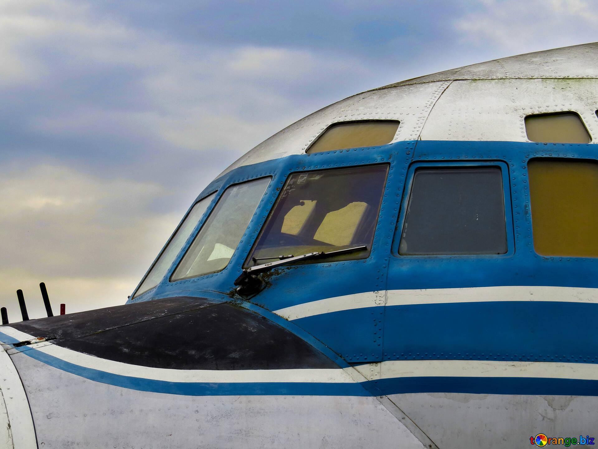 Older Aircraft Cab Old Plane Aviation 26429