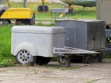 Vintage car trailer №26371