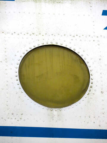 Texture of the round window in the plane with rivets №26431