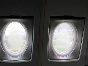 Finestra di aeroplano consistenza all`interno №26368