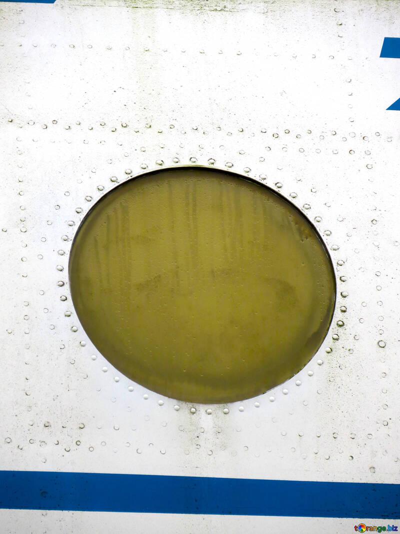 Rundes Fenster Textur Der Das Runde Fenster Im Flugzeug Mit Nieten