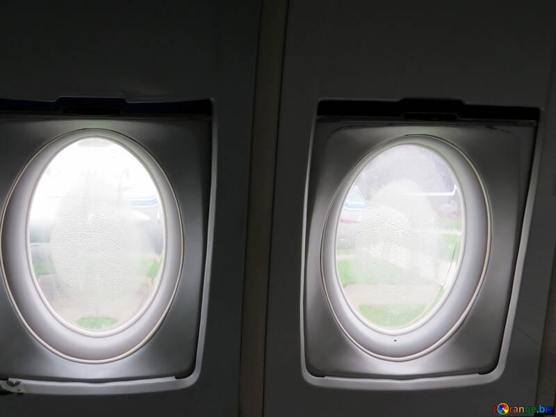 Rundes Fenster Textur Flugzeug Fenster In Haus 26368