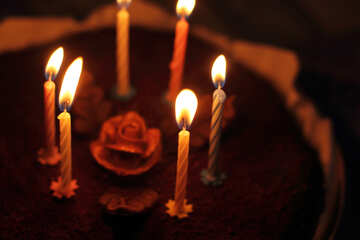 Candles on birthday cake №27007