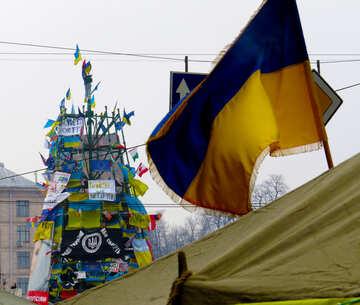 Revolutionary Christmas tree in Ukraine in 2014 №27908