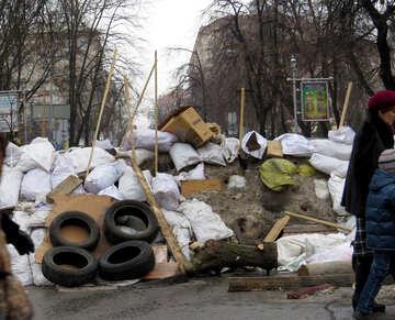 City barricades blocked №27934