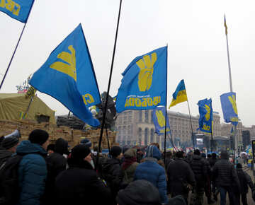 Колонна протестующих людей №27795