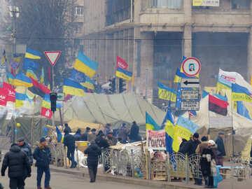 Demonstranten in Kiew №27753