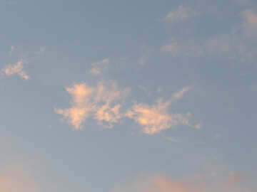 Sunset cloud №27312