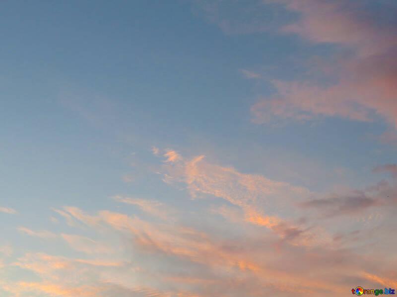 Cielo del atardecer textura №27299