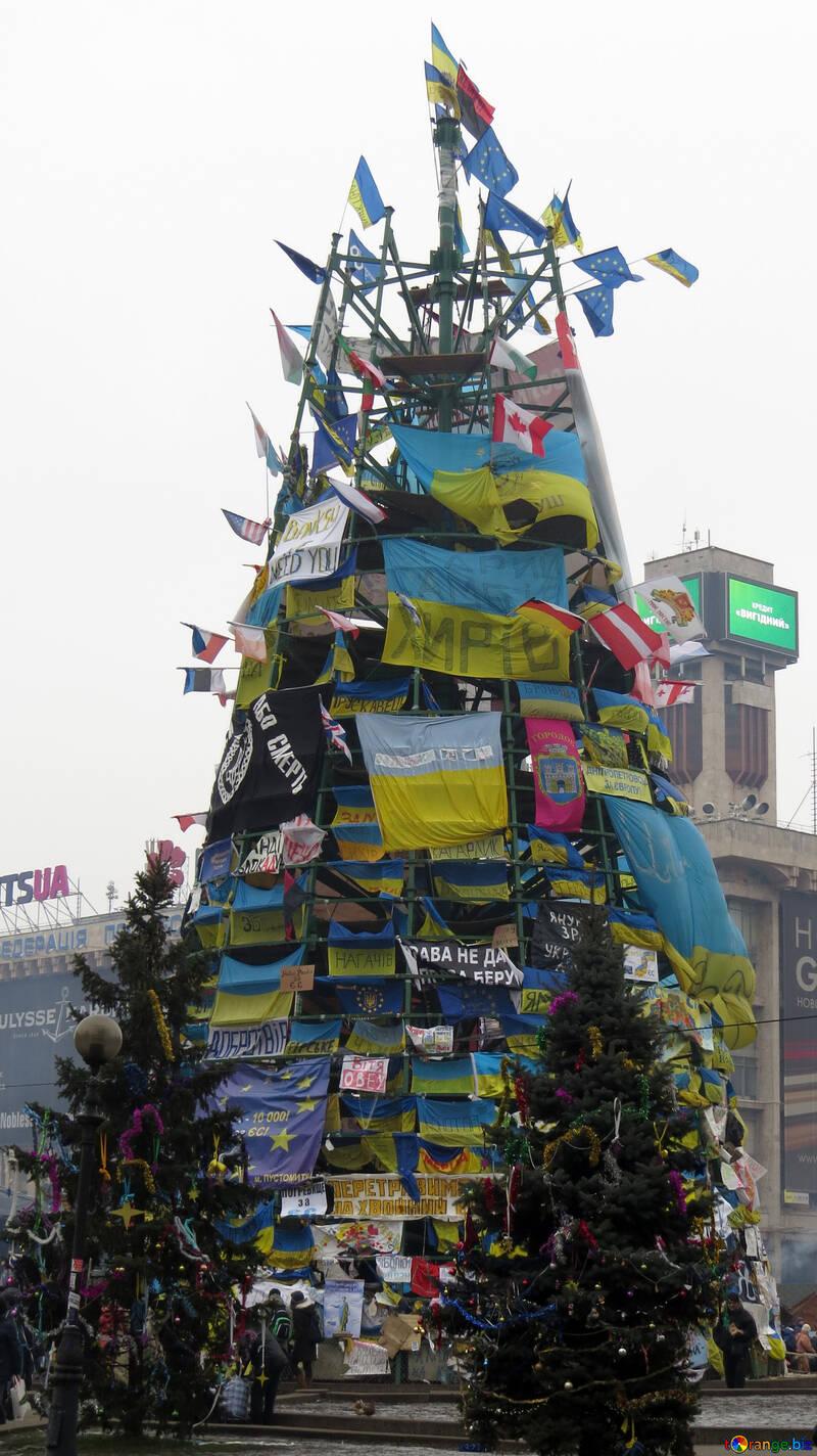 Украинская европейская новогодняя ёлка №27847