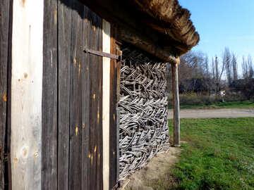 Schuppen-Wand №28249