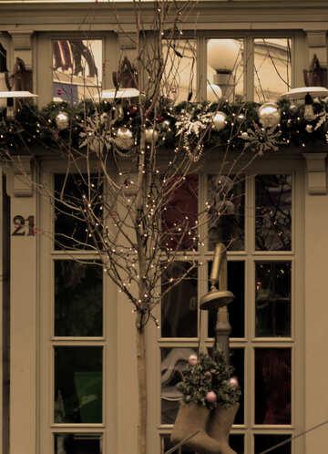 Christmas decoration house windows and facade №28045