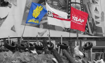 Flags at the barricade №28006