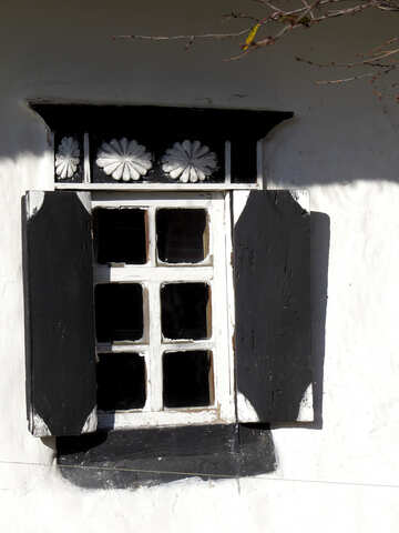 Window with black shutters №28650