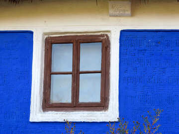 Window on the blue wall №28554