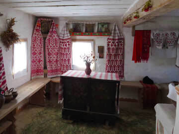 Interior Ukrainian hut №28935