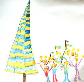 Evromaydan child`s drawing №28119