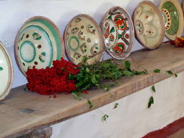 Collection of old dishes №28231