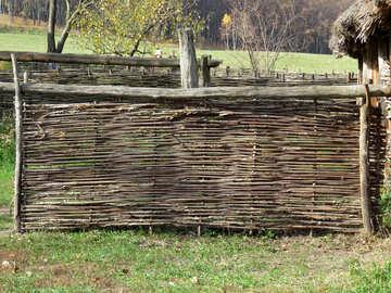 Stockade fence texture №28909