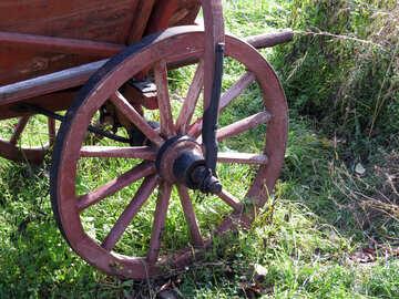 Wooden wheel №28828