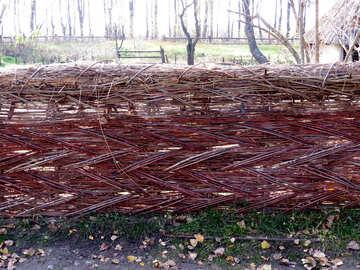 Wicker fence of twigs №28898