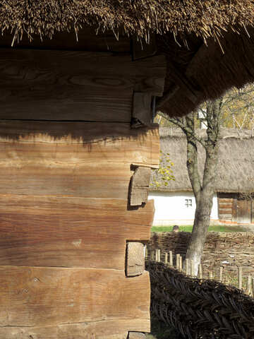 Corner of the house of wooden planks №28891
