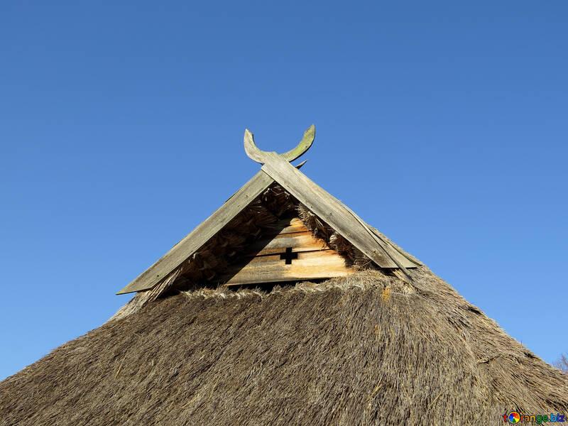 Elemento decorativo antico sul tetto №28601