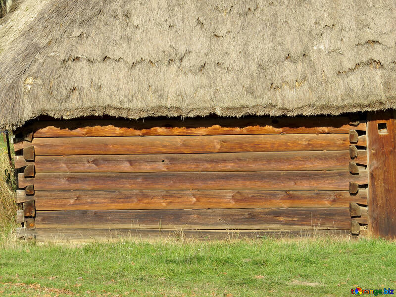 Texture wall of an old house made of wood №28578